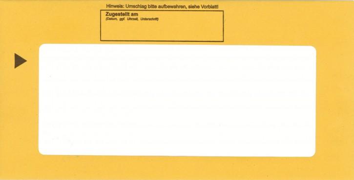 Zustellungshülle DL (114/224 mm) mit So.-Fenster (70/175 mm), nassklebend,105KAB2-SF, VPE 100 Stück