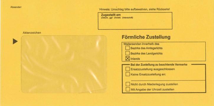 Zustellungshülle (innere) DL 114/224 mm, Fe 60/90 mm, NK, MIT Kreuz Inl., rückstg. Einstecks., DS-Trennw., VE 1.000 ST