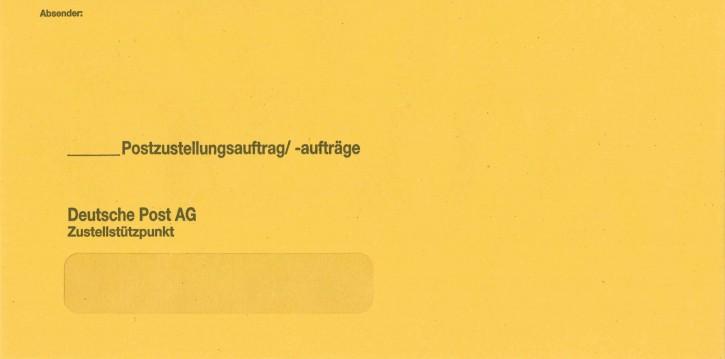 """Zustellungshülle (äußere) KO 120/235 mm, Fe 20/98 mm, NK, MIT """"DPAG"""", 442, VE 250 ST"""
