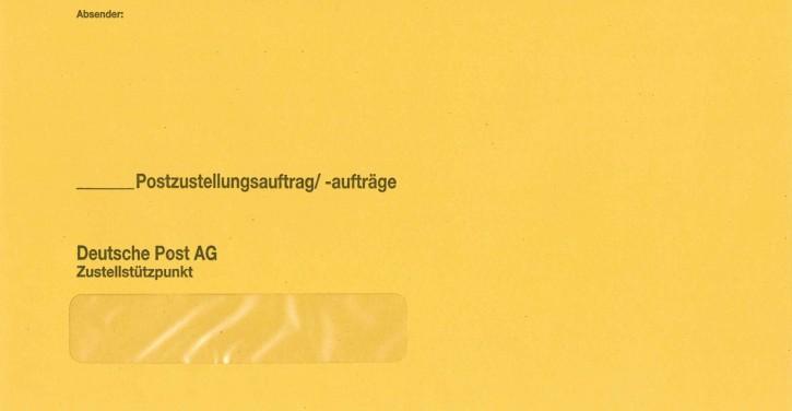 """Zustellungshülle (äußere) KO 125/235 mm, Fe 20/98 mm, HK, MIT """"DPAG"""", 442-HS, VE 250 ST"""