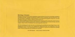 Zustellungshülle (innere) DL 115/226 mm, Fe 60/90 mm, NK, OHNE Kreuz Inl., rückstg. Einstecks., VE 1.000 ST